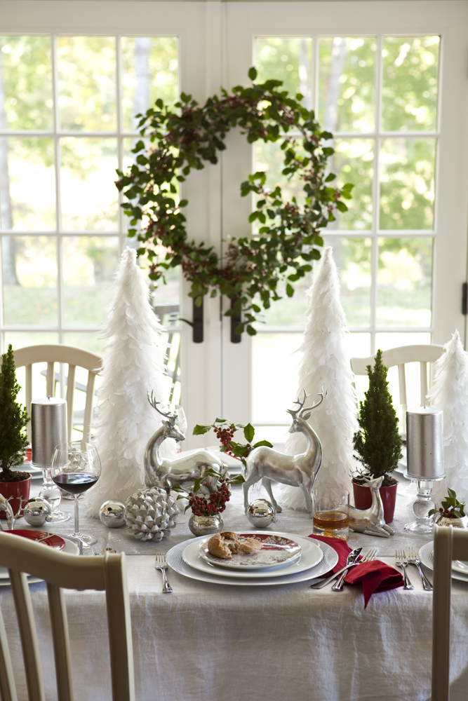 Karin lidbeck 5 day countdown winter wonderland inspired for Christmas dining table