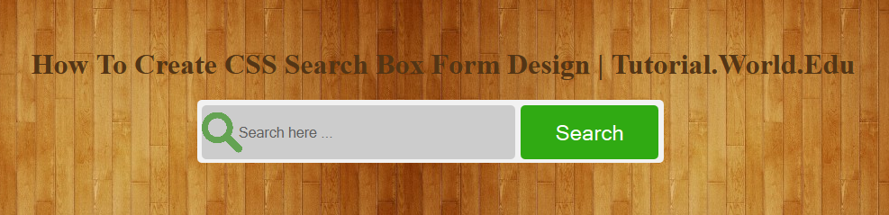 How To Create CSS Search Box Form Design