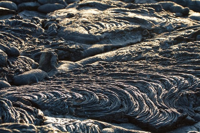 close up of lava field Sullivan Bay