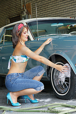 hot girl washing car № 198132