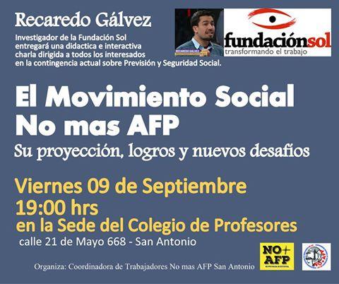 SAN ANTONIO: EL MOVIMIENTO SOCIAL NO + AFP, SU PROYECCIÓN, LOGROS Y NUEVOS DESAFIOS