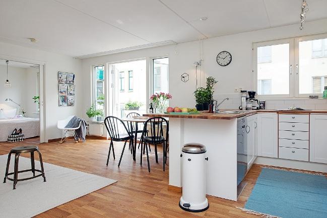 El piso perfecto mientras espero mi futuro castillo la for Cocina y bano juntos