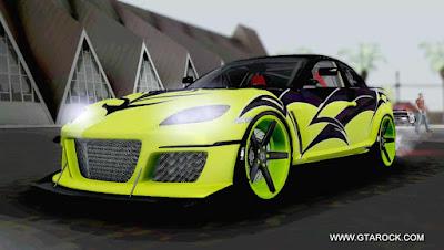GTA SA - MAZDA RX8 - Green Vossen