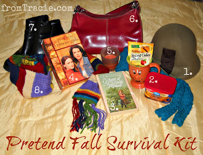 Pretend Fall Survival Kit Numbered