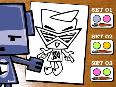 Can you work out which paint set the Cubist Mascot should choose?