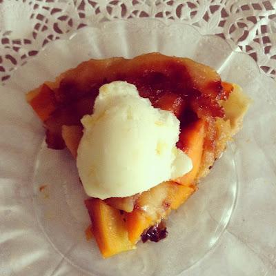 Part de tarte tatin pommes potiron
