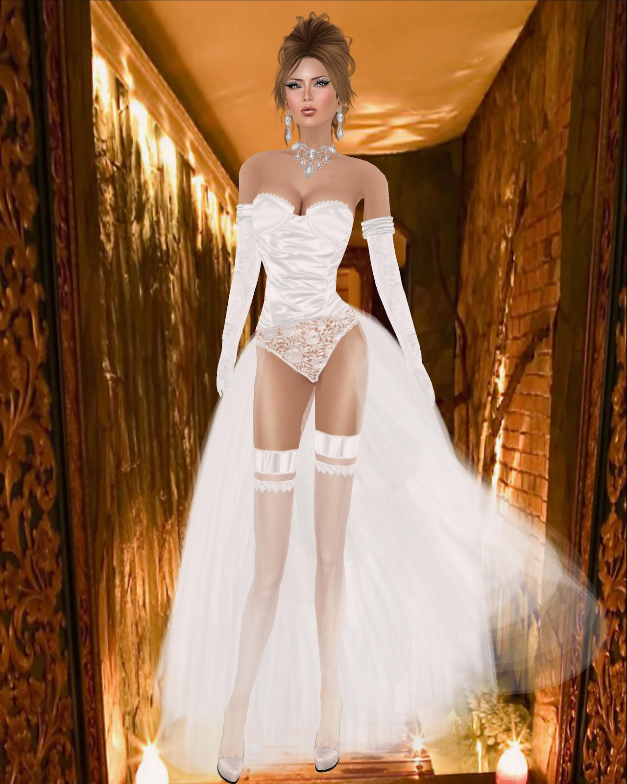 Jenie and Anjyu\'s SL Fashion Life: Angel Dessous New Wedding Gown