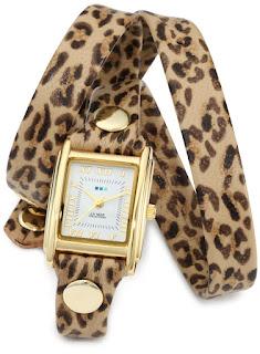La Mer Leopard Print Watch