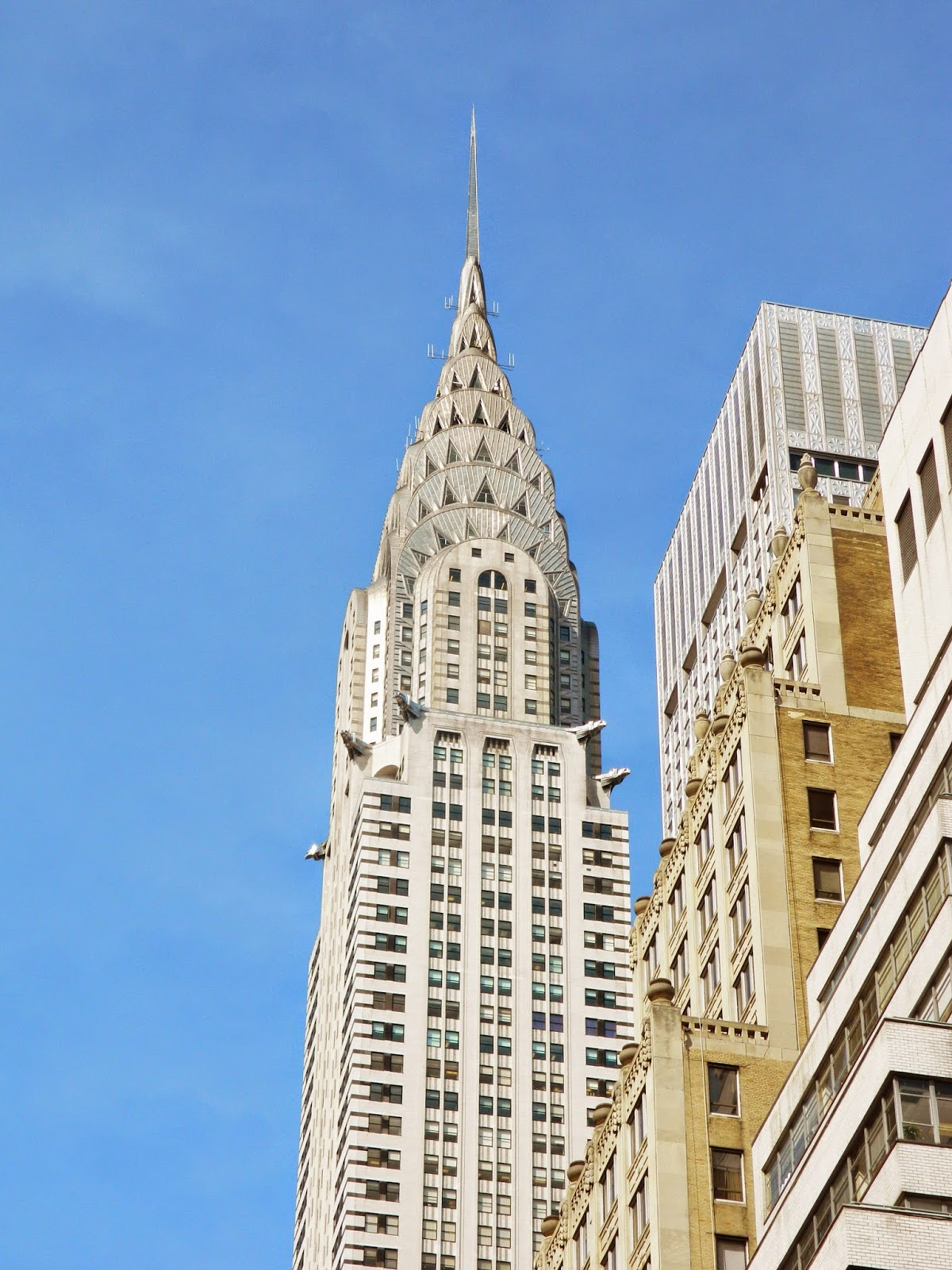 new york city Chrysler building sunlight pretty art deco