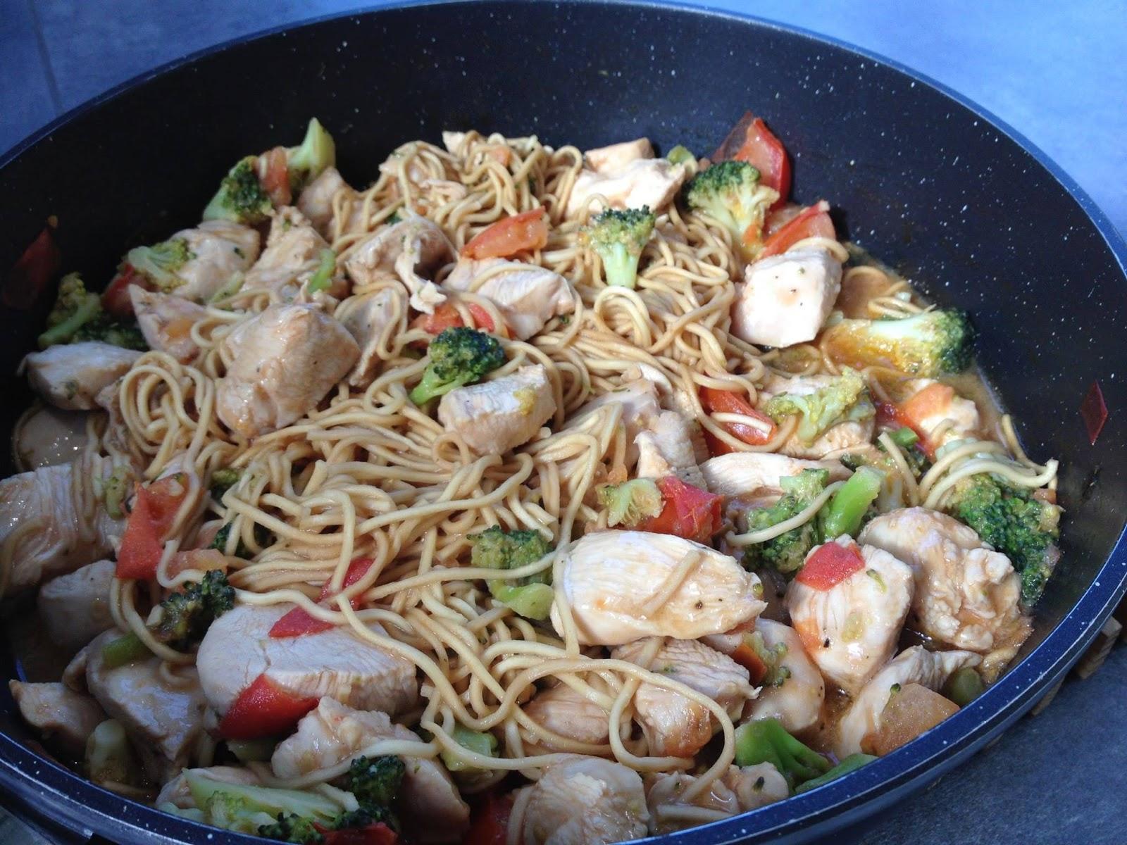 nouilles chinoises au poulet en k de gourmandises