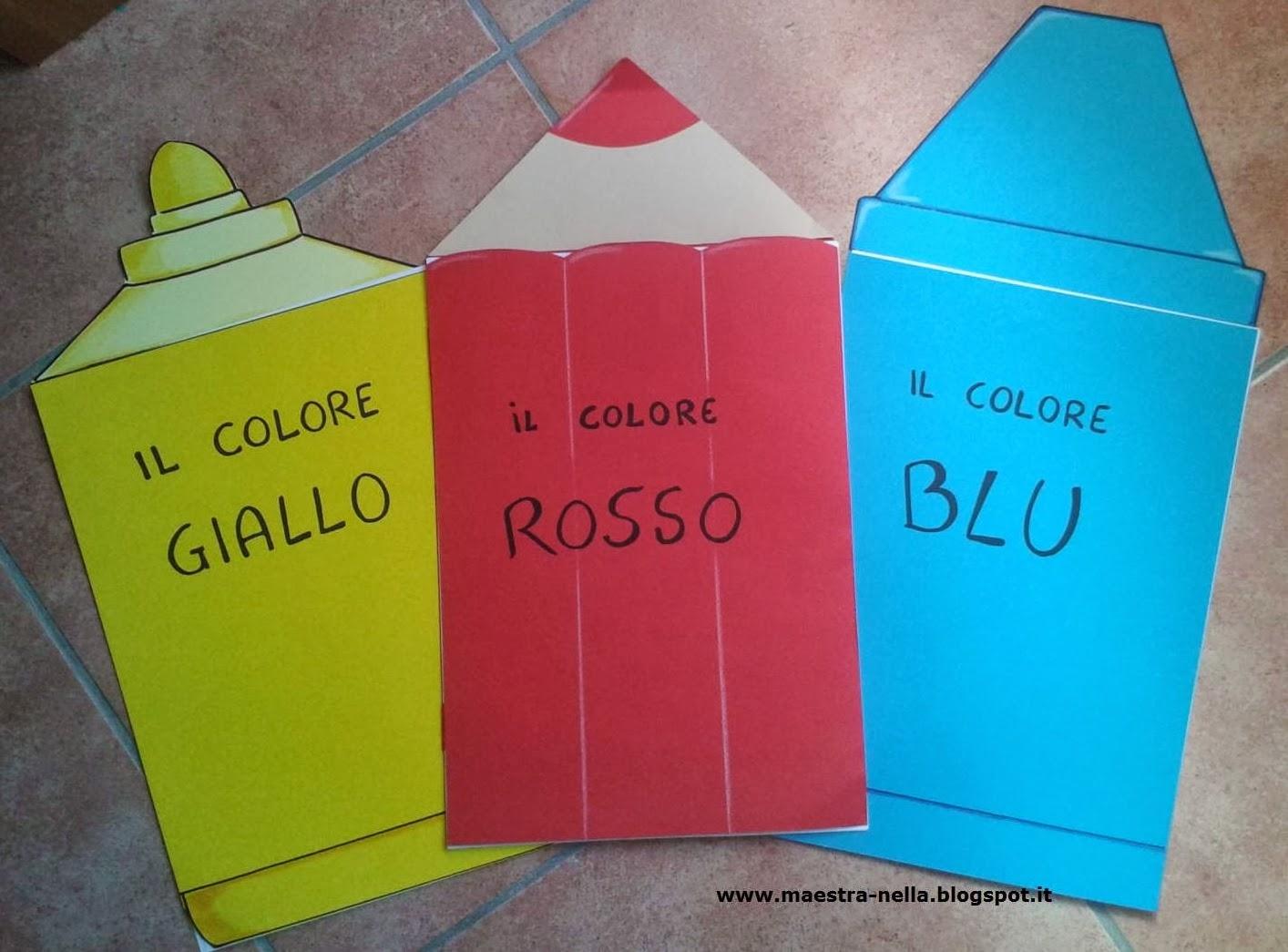 Maestra nella carpette per i colori primari for Maestra nella il libro dei colori