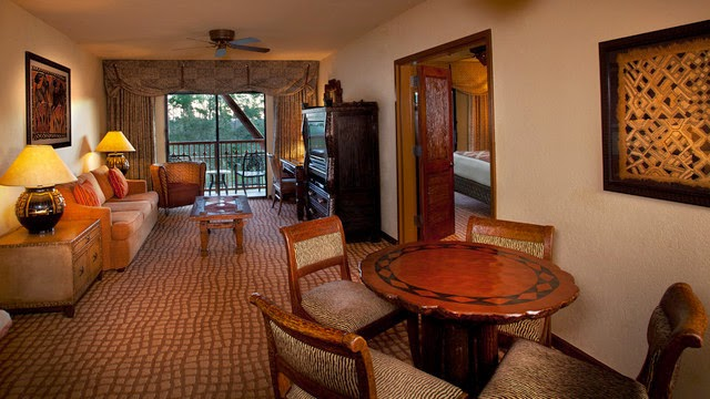 bedroom suite with club level access at disney 39 s animal kingdom