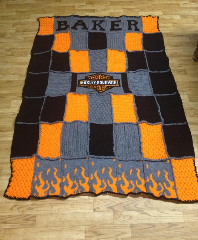 Veronicas Knitting Projects: Harley Davidson Afghan