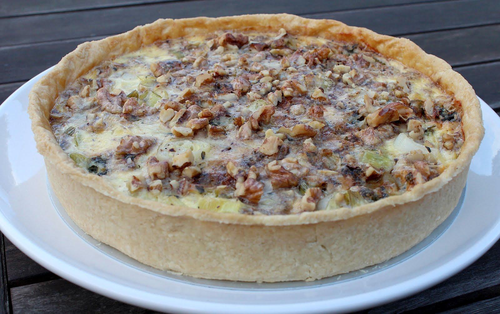 Kitchen Delights: Stilton, Leek and Walnut Quiche