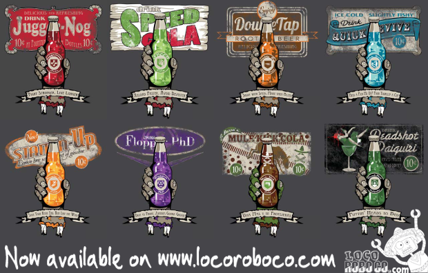 Perk-A-Cola Series by Loco Robo Co.