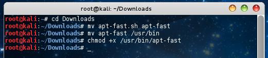 chmod +x /usr/bin/apt-fast