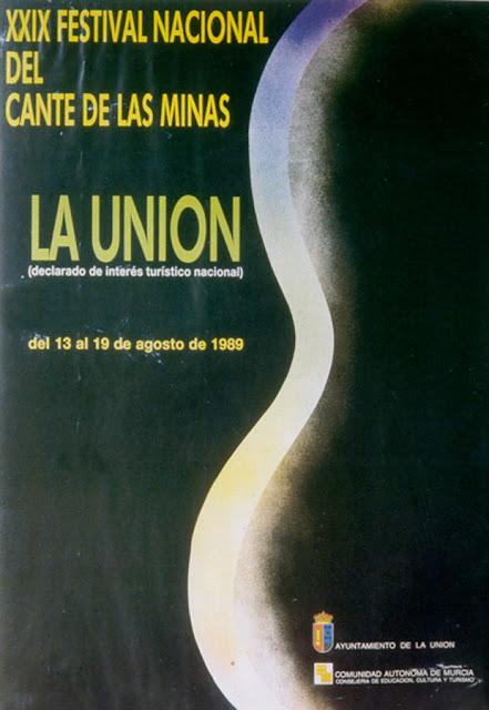 Cartel del Cante de las Minas de 1989