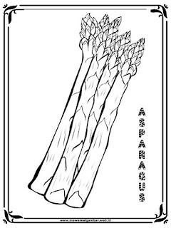 gambar mewarnai asparagus