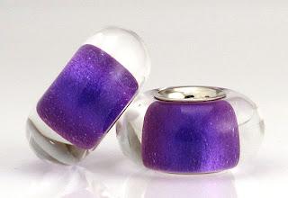 Violet Pair - Mica Lustre Beads