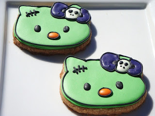 Hello Kitty zombie cookies