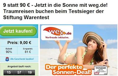 90-Euro-weg.de-Gutschein bei Groupon für 9 Euro