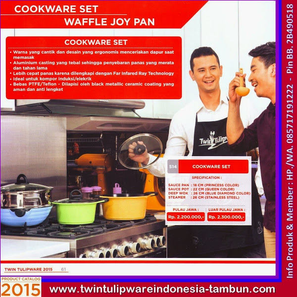Cookware Set, Panci Tulipware 2015