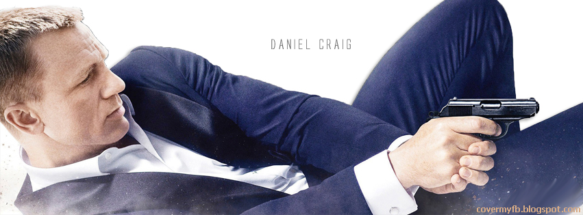 Action Facebook Cover Of Daniel Craig.