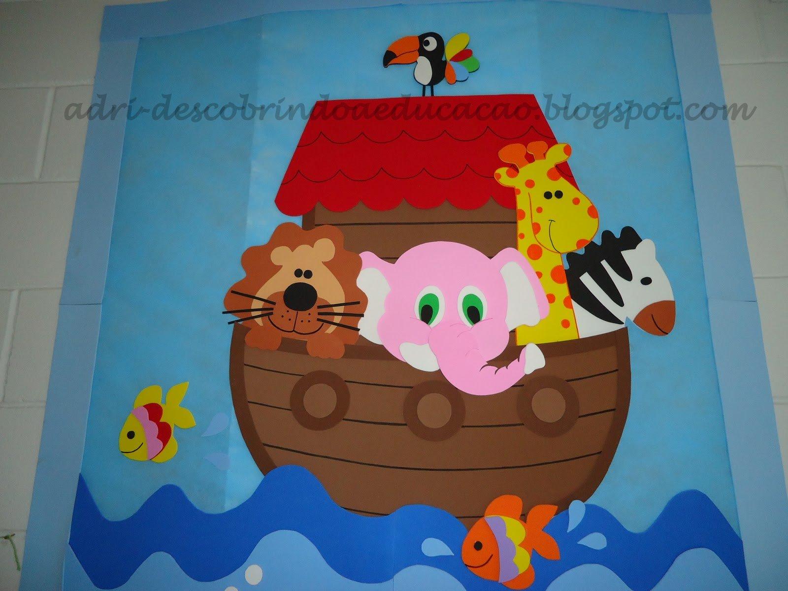 Decoracao De Sala Infantil Com Eva ~  Educação Infantil ♥ Decoração de sala da Arca de Noé
