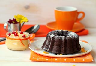 Bundt cake de xocolata i crema de taronja