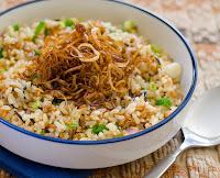 Salada de Grãos com Alho-Poró Frito (vegana)