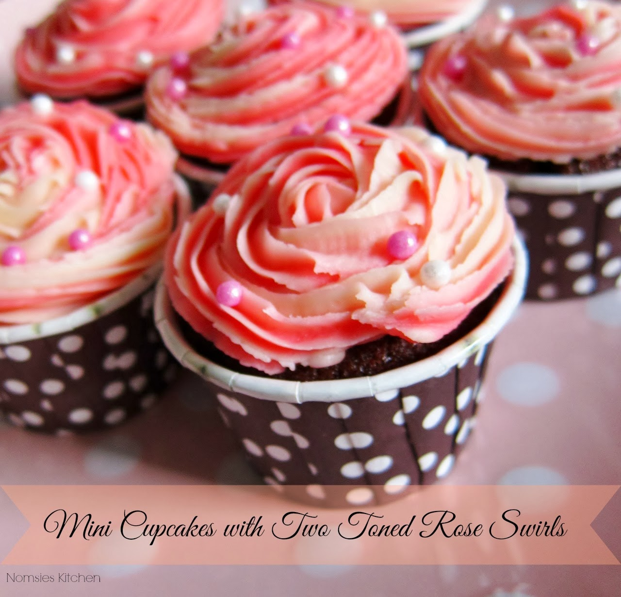 Homemade Mini Cupcakes with Two Toned Rose Swirls | Nomsies Kitchen