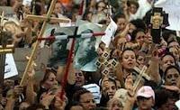 """مظاهرة قبطية أمام """"مديرية أمن الجيزة"""" للمطالبة بعودة أسر دهشور المهجرة وتعويضها"""