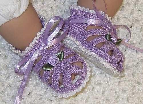 Yazlık Örgü Bebek Sandalet Yapımı