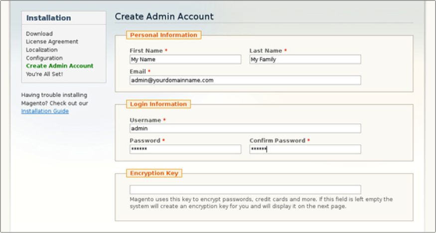 At this step, you need to enter your personal details