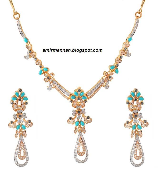 Feroza turquoise fashion necklace set jewellery collection for Turquoise colored fashion jewelry