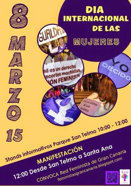 Día de la mujer 2015, manifestación, las palmas