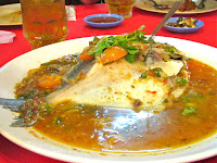 steamed whole fish Nyonya-style