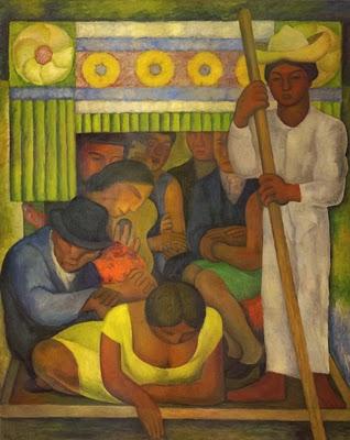 Diego Rivera, La Canoa enflorada, 1931