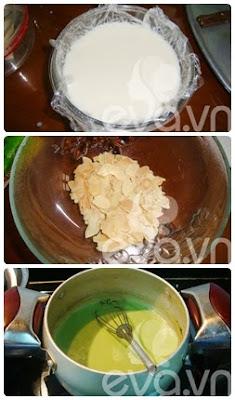 Cách nấu chè khúc bạch Vani - Trà xanh 2