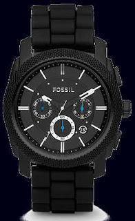 Fossil Machine Chronograph Silicone Watch FS4487