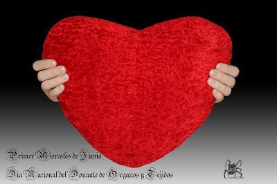 El primer miercoles de junio se celebra el día nacional del donante de organos y tejidos.