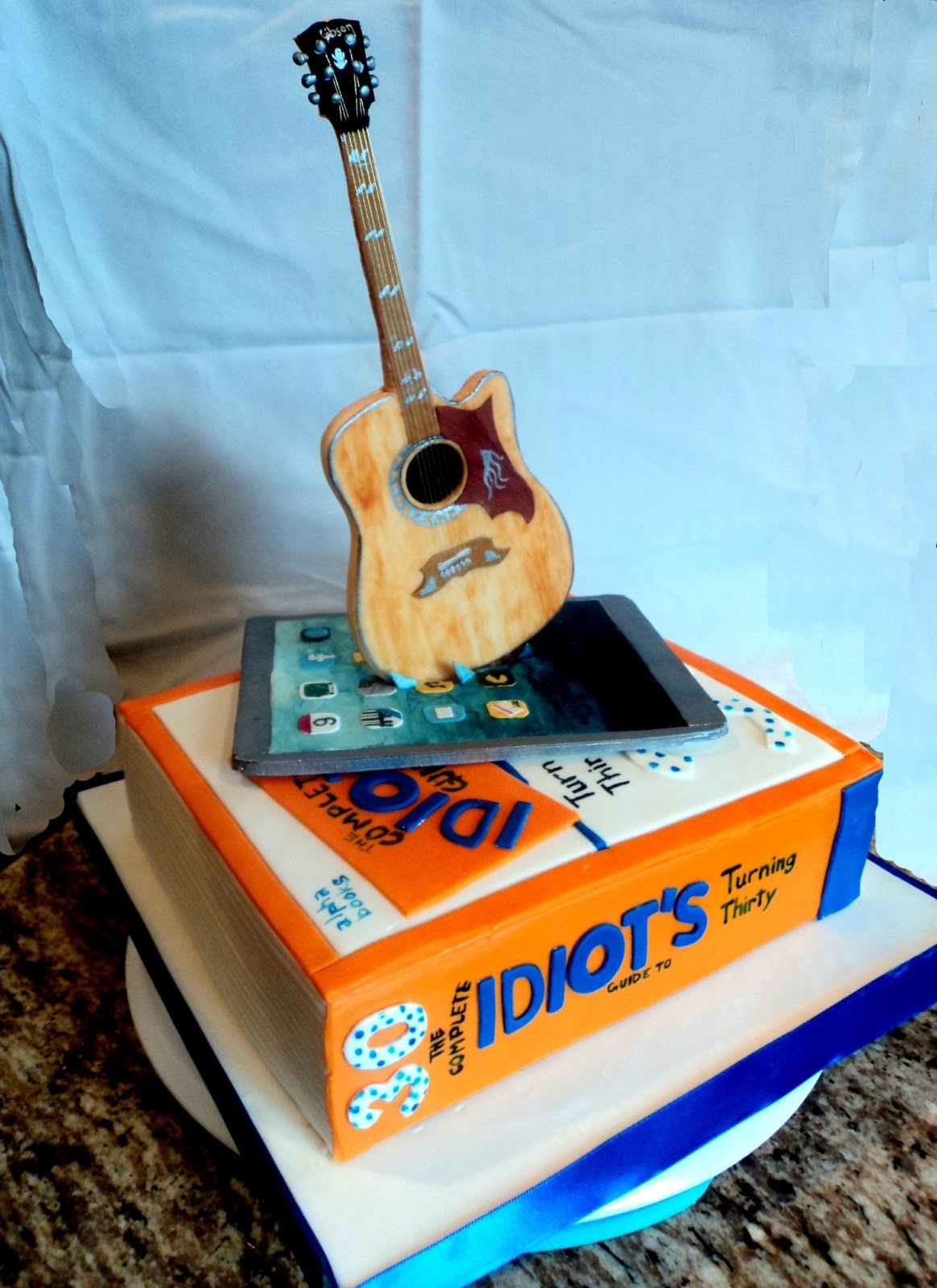 Delectable Cakes Ipad Guitar Book Birthday Cake