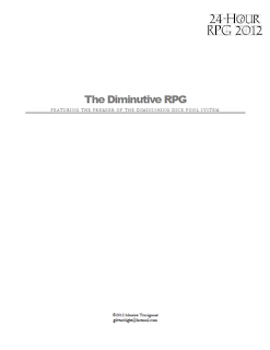 The Diminutive RPG
