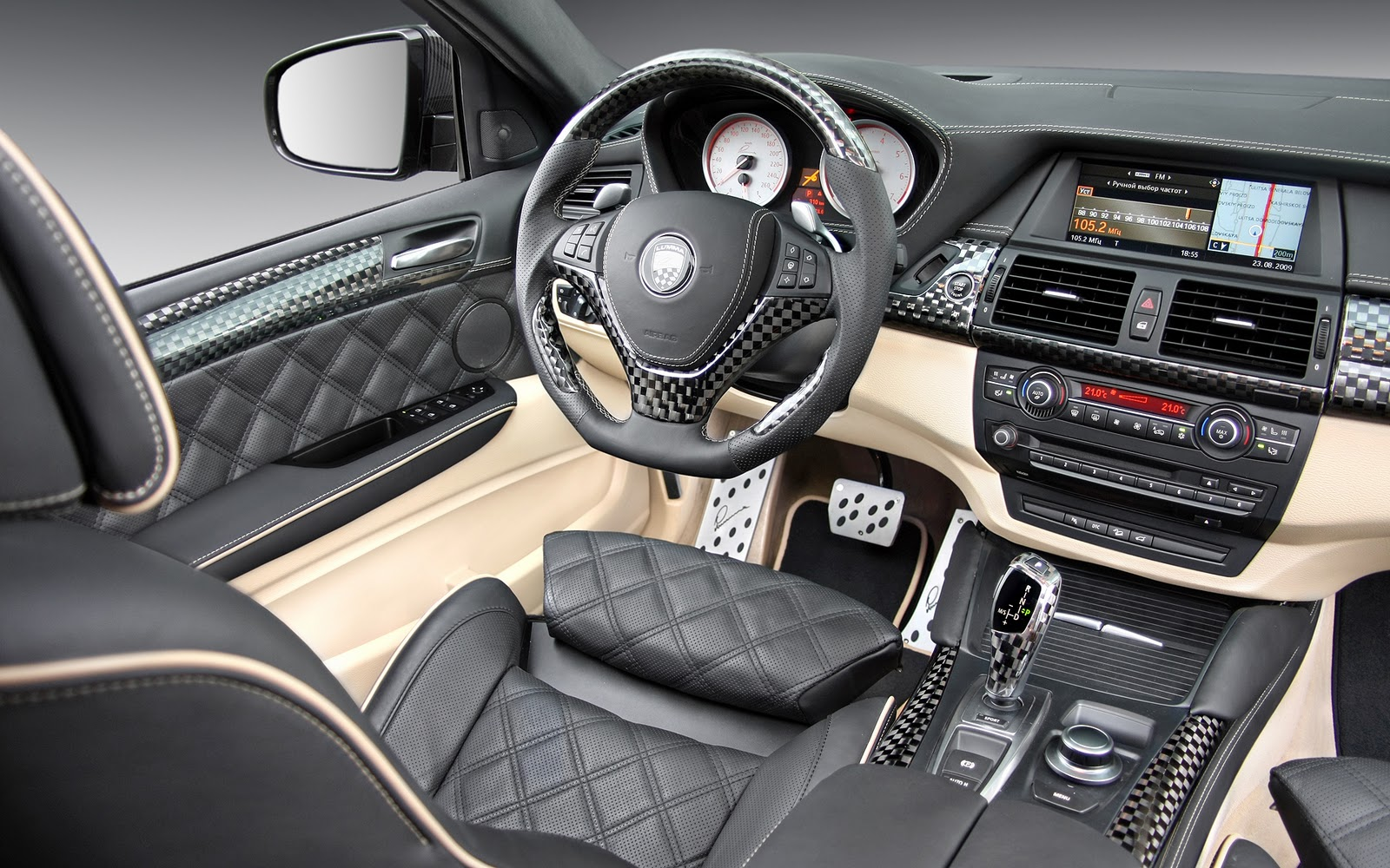 Cool car wallpapers bmw x6 2011 interior for Interieur x6