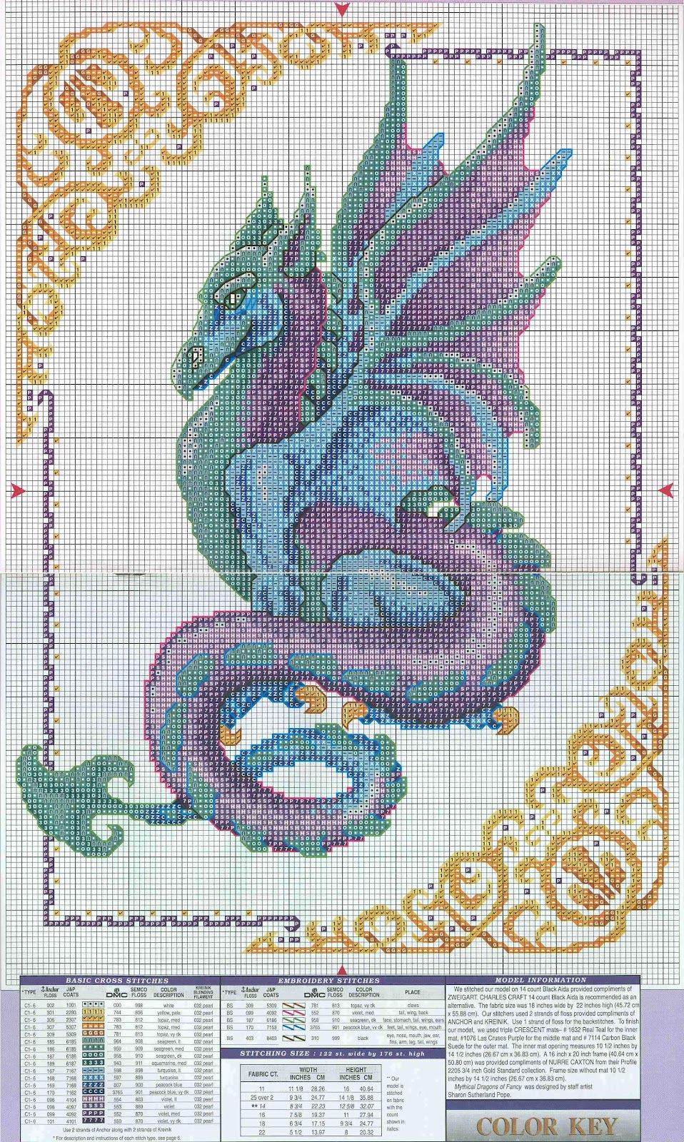 Схема вышивки бесплатно драконы