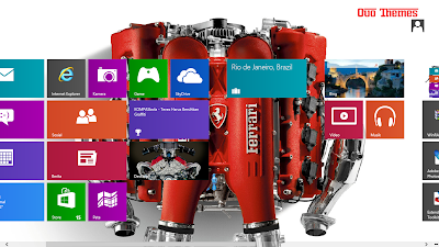 Ferrari Car Engine Theme For Windows 7 And 8