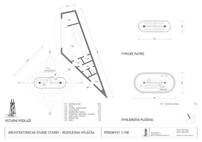 Půdorysy Hýlačky, architektonická soutěž - 3. místo