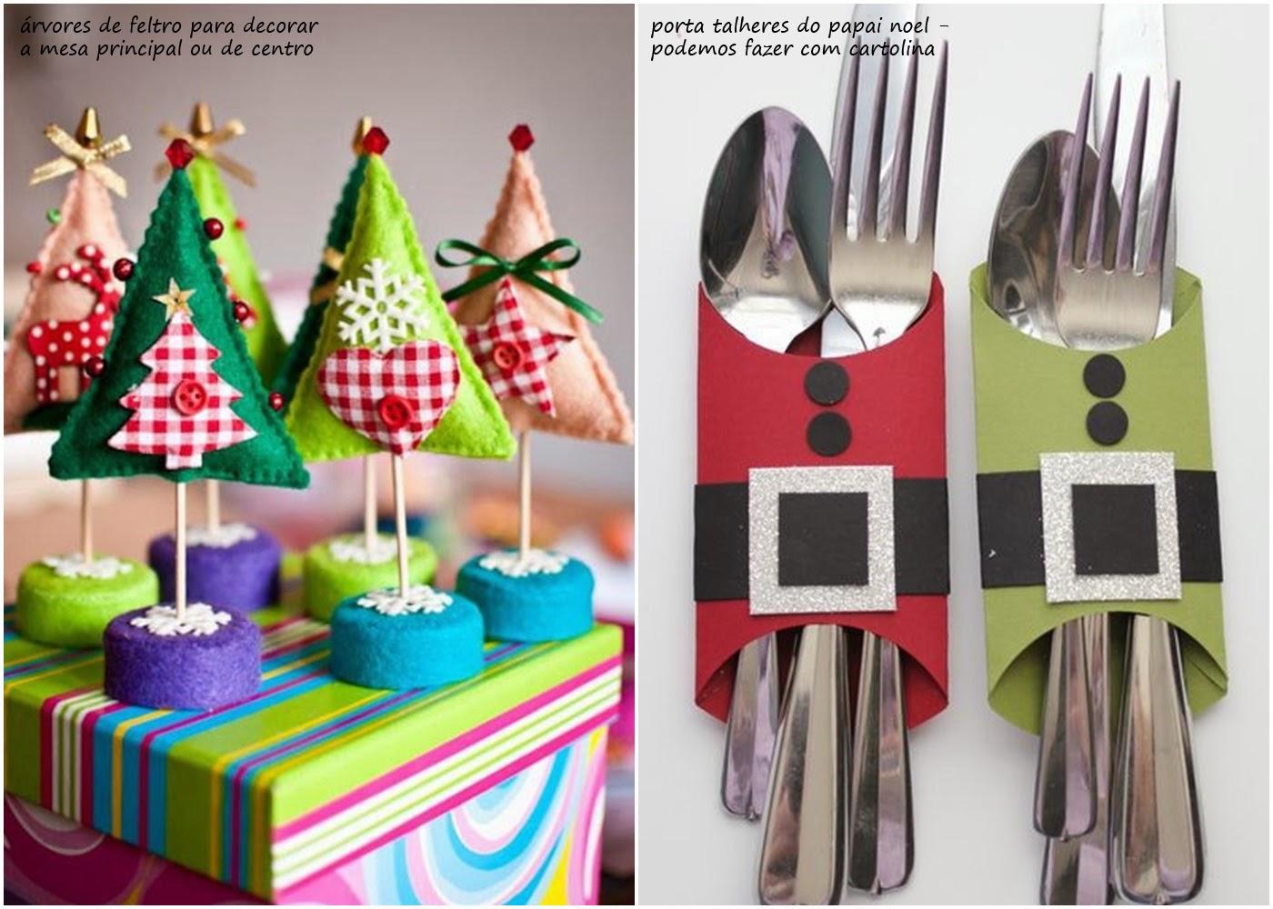 decoracao de arvore de natal simples e barata : decoracao de arvore de natal simples e barata:é bem simples e barata . Vejam que fofo essas árvores de feltro e
