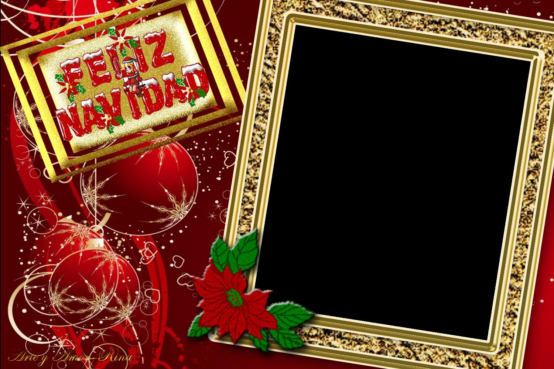 Arte y amor feliz navidad - Marcos navidad fotos ...