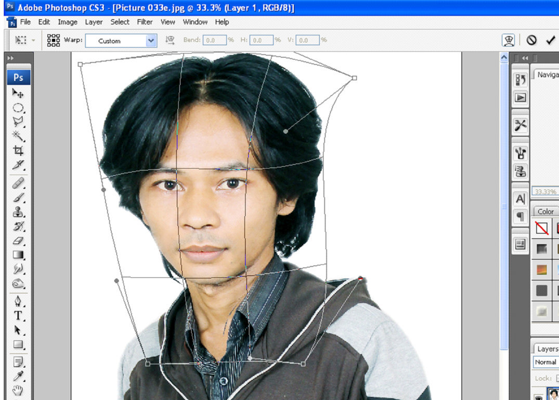 Membuat foto karikatur dengan photoshop